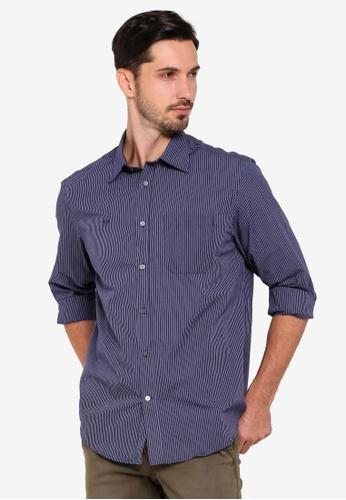 OVS 藍色 Classic 長袖襯衫 9BBD6AA5106D14GS_1