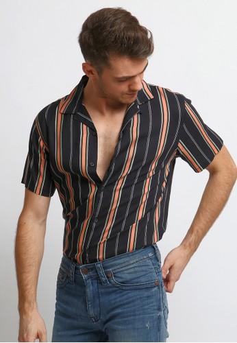 VENGOZ black Ives Casual Shirt 8910BAADFB828AGS_1