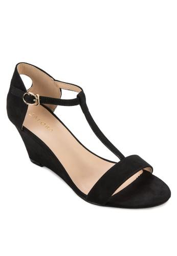 時尚T 字帶楔形涼鞋, zalora時尚購物網的koumi koumi女鞋, 楔形涼鞋