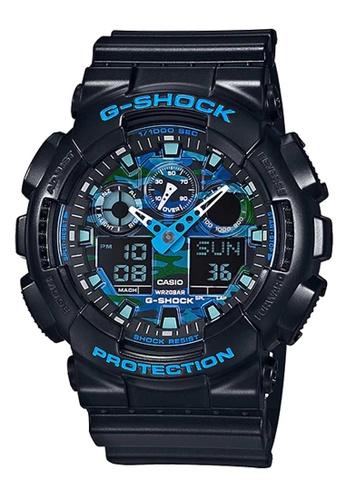 CASIO black Casio G-Shock Blue and Black Resin Watch E4178ACB60B3CFGS_1