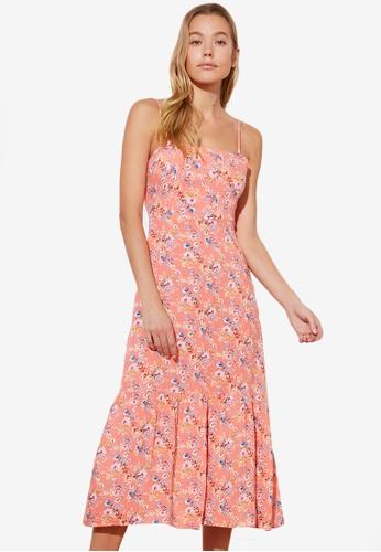 Trendyol pink Printed Ruffle Hem Dress F99DAAABE08BBCGS_1