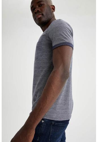 DeFacto navy Man Knitted T-Shirt 7A7B1AA2B28DEDGS_1