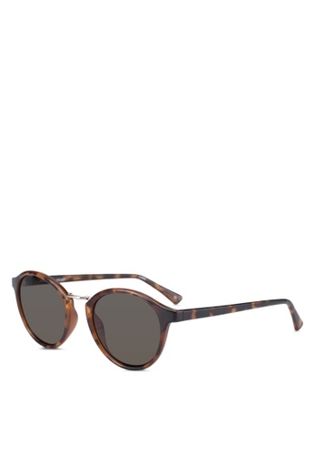 Le Specs brown Paradox Sunglasses 6E2C0GL27E7E48GS_1