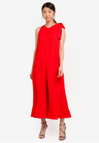 French Connection red HIVA CREPE SLESS FLRD JUMPSUIT 8FAC5AA79C2E00GS_1