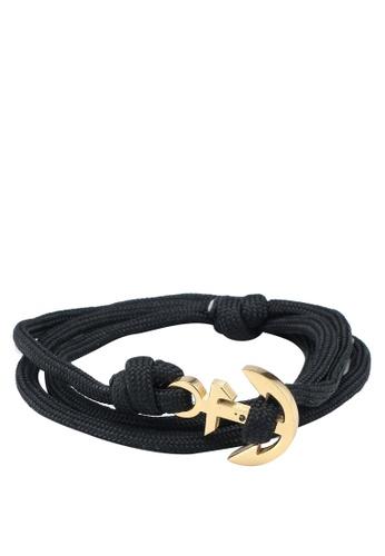 Thread Etiquette black Rocka Fella Anchor Bracelet 9F2F4ACEF7798CGS_1