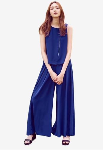 素色褶飾寬褲, 服飾, 長esprit outlet 台灣褲及內搭褲