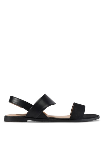 ZALORA black Sling Back Sandals B6DB0SHF7A3C82GS_1