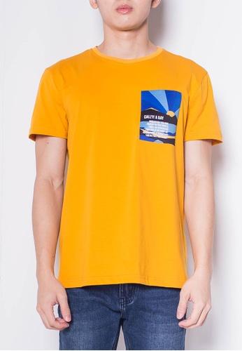 SUB yellow Men Short-Sleeve Graphic Tee 3350BAA6C15EF2GS_1