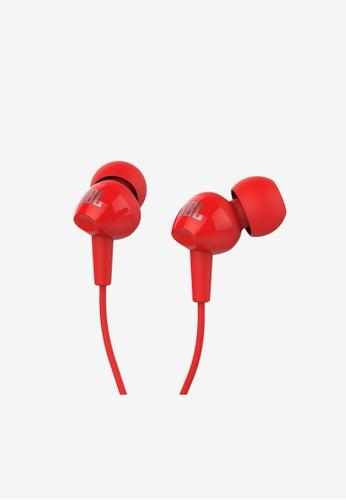 JBL red JBL C100SI In - ear Headphones 39E68ACD19B7AEGS_1