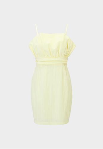 Pomelo yellow Mini Cinched Cami Dress - Yellow 18CE0AA4FDA829GS_1