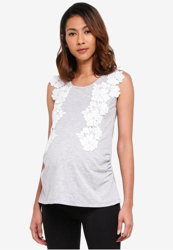Dorothy Perkins grey Maternity Grey Lace Shell EDAC0AAAD09E94GS_1
