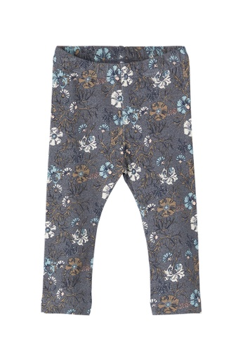 NAME IT grey Nellal All-Over Printed Leggings 21194KAB5219B7GS_1