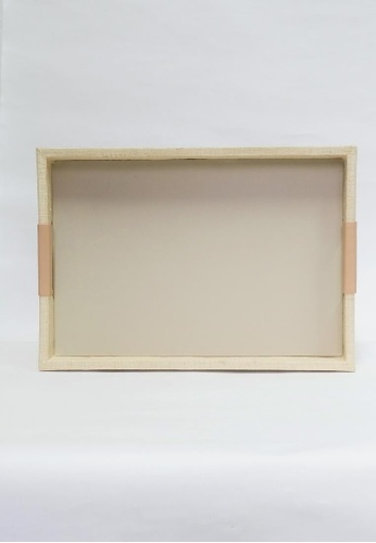 Grassroots beige Rectangular Tray (Large) CDED9HLF239715GS_1