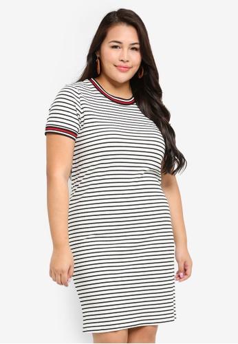 Buy Only CARMAKOMA Plus Size Lou Stripe Bodycon Dress Online ...