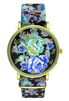 Floral Analog Casual Watch