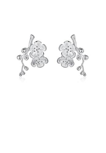 Glamorousky silver Elegant Fashion Plum Earrings 74700ACDF8C5F7GS_1