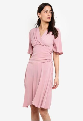 Jual Zalora Flare Sleeves Fit And Flare Dress Original Zalora Indonesia