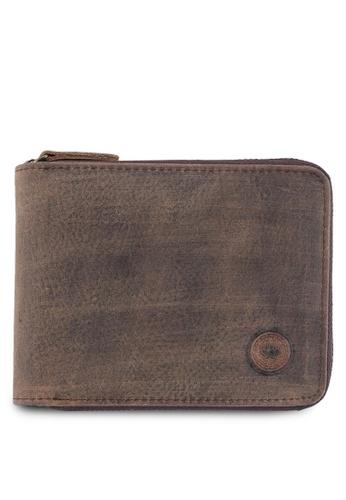 Lumberjacks brown Lumberjacks Genuine Leather Zipper Wallet LU545AC0SMD2MY_1