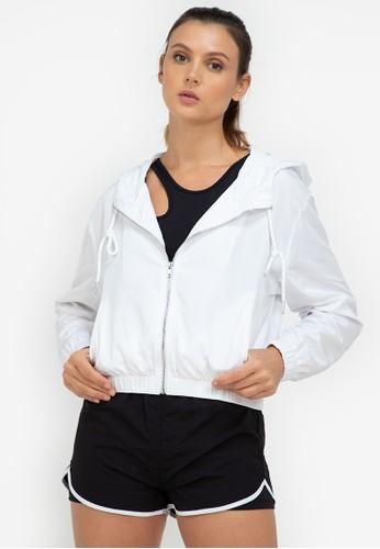 ZALORA ACTIVE white Hooded Windbreaker Jacket 1745FAAC567680GS_1