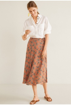 db171f1d4ee1 38% OFF Mango Paisley Patterned Midi Skirt RM 240.90 NOW RM 149.00 Sizes XS  S M L XL