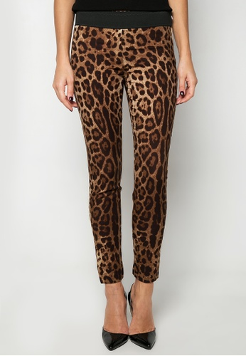 3bd500756f09 Shop Dolce & Gabbana Leopard Print Pants Online on ZALORA Philippines