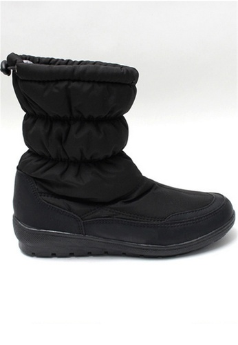 Crystal Korea Fashion black Korean Made Winter Warm Waterproof Boots With Snow Boots CR681SH2VS0RHK_1