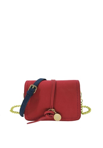 Beverly Hills Polo Club BEVERLY HILLS POLO CLUB Color Combo Cross-body Shoulder bag - Ruby Red A44CCACBAB82DCGS_1