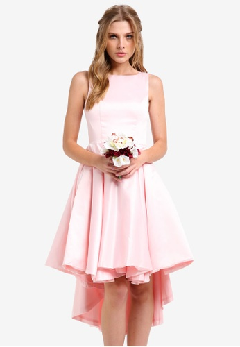 ZALORA pink Bridesmaids Structured High Low Dress 4D515ZZF75D18AGS_1