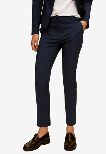 Mango 藍色 西裝修身長褲 E56A0AAE3D0984GS_1