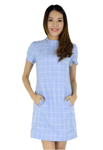 MOONRIVER blue Carrie Classic Checkered Dress MO886AA39CTGSG_1