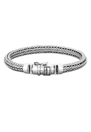 KUZZOI silver Perhiasan Pria Perak Asli - Silver Gelang Basic Cool 1DE25ACC6849EEGS_1