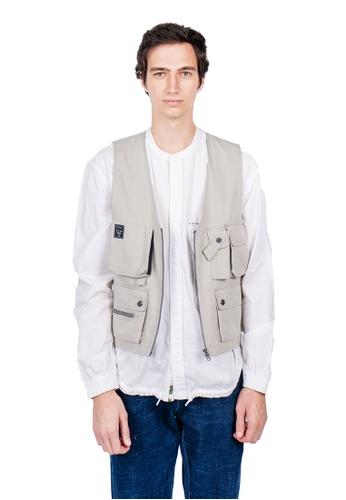East Pole beige Men's 14 Pockets Fishing Vest 8F2E8AA6AFE2FEGS_1
