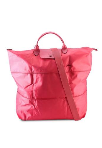 Longchamp red Le Pliage Club Travel Bag (zt) EFDB6AC447935CGS_1