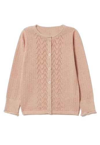 OVS pink Solid Color Cardigan 0CECDKA5A3CE6AGS_1