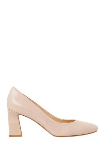 Nina Armando beige Florence Leather Mid Heel NI342SH0FV8RSG_1