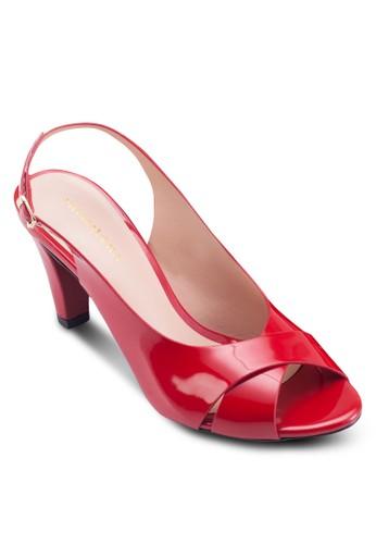 Clarise 露趾繞踝粗跟鞋, 女鞋esprit hk, 鞋