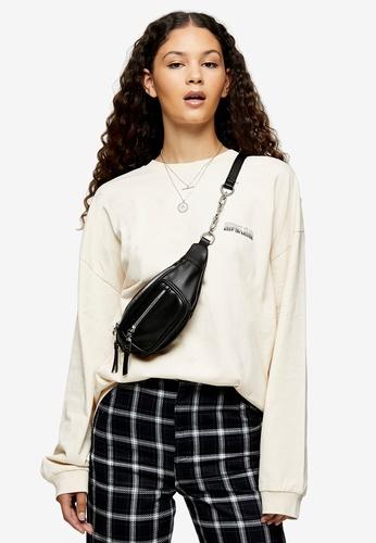 TOPSHOP white Long Sleeve Energy Motif T-Shirt 0EC77AAD4D3851GS_1