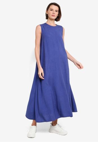 niko and ... blue Woven Maxi Dress 8502FAA9A7AA1BGS_1