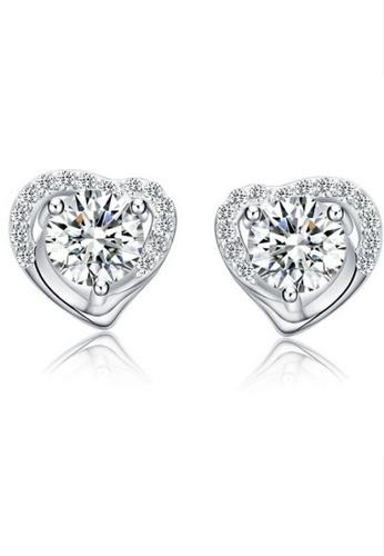 Vivere Rosse silver Vivere Rosse Love Me 925 Sterling Silver Stud Earrings VI014AC02FEVMY_1