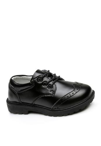Twenty Eight Shoes black VANSA Leather Student Shoes VSK-DW01L 9C6F7KS201C738GS_1