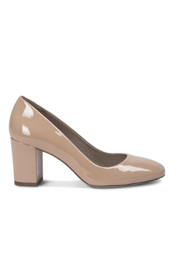 Andre brown ADPENSIVE Patent Leather Pumps AN324SH70GZLSG_1