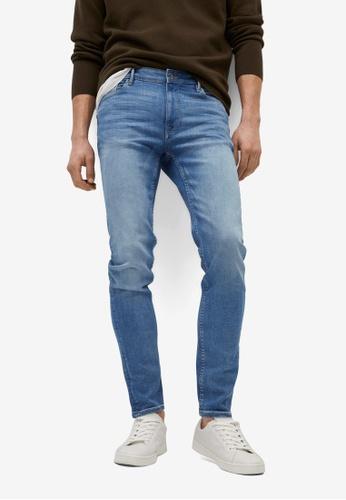MANGO Man blue Skinny Medium Wash Jude jeans E4B10AACFEDA6DGS_1