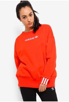 a3e31539dbc3 adidas red adidas originals coeeze sweatshirt 13186AAEBAF9BFGS 1