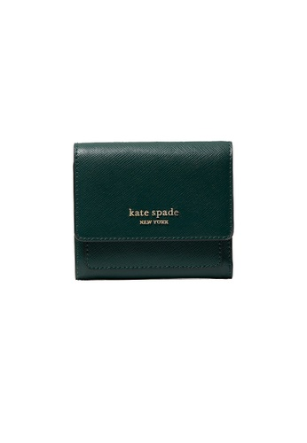 Kate Spade green Kate Spade Booked Trifold Flap Wallet pwr00189 Green Beans E4EF9ACC24F6B7GS_1