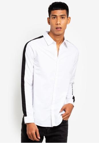 Brave Soul 白色 長袖襯衫 66D59AA32A1420GS_1