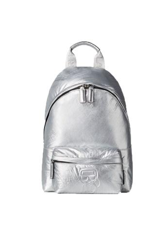 KARL LAGERFELD silver K/Ikonik Nylon Md Bp Metallic 0F89EAC3B80FE0GS_1