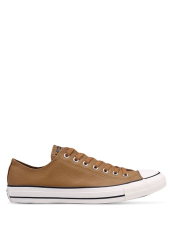 Converse brown Chuck Taylor Post Game Ox Sneakers 402B7SHE9C0488GS_1