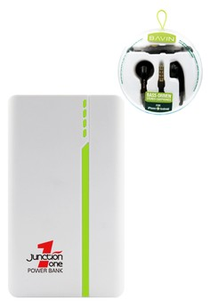 J1 13000mah Power Bank With FREE BAVIN Bass Driven Stereo Earphone