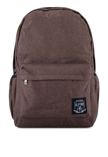 Playboy brown Playboy Casual Backpack PL371AC0SJZAMY_1