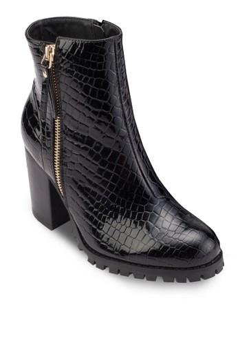 動物紋esprit分店地址仿皮踝靴, 女鞋, 鞋